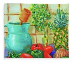 Pineapple Salsa Fleece Blanket