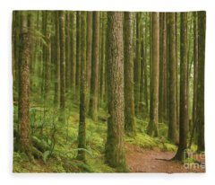 Pines Ferns And Moss Fleece Blanket