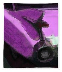 Pink 1959 Cadillac Tailfin Pop Fleece Blanket