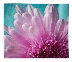 Pink And Aqua Fleece Blanket
