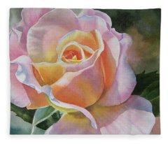 Orange Rose Fleece Blankets