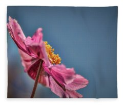 Pink And Yellow Profile #h8 Fleece Blanket