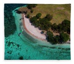 Fleece Blanket featuring the photograph Pink Beach Island, Flores by Pradeep Raja PRINTS
