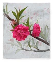 Hot Pink Blossom Fleece Blanket