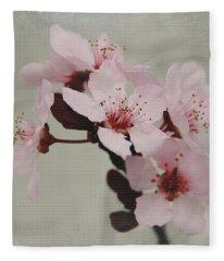 Pink Blossoms 1- Art By Linda Woods Fleece Blanket