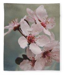 Pink Blossoms 2- Art By Linda Woods Fleece Blanket