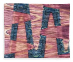 Pink By Blue Fleece Blanket