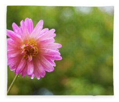 Pink Dahlia 1 Fleece Blanket