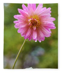 Pink Dahlia 2 Fleece Blanket