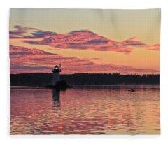 Pink Fire Fleece Blanket