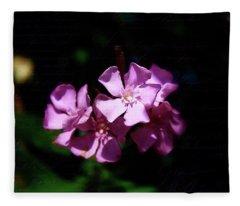 Pink Floral Artistry Fleece Blanket