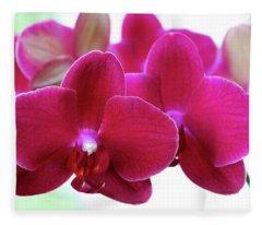 Red Orchid Fleece Blanket