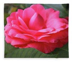 Pink Gardenia Fleece Blanket