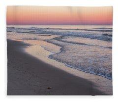 Pink Glow Seaside New Jersey 2017 Fleece Blanket