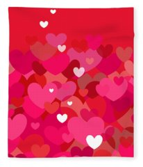 Pink Heart Abstract Fleece Blanket