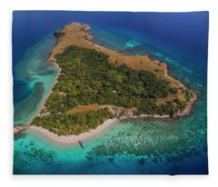 Fleece Blanket featuring the photograph Pink Island In Flores, Indonesia by Pradeep Raja PRINTS
