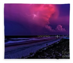 Pink Lightning Fleece Blanket