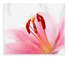 Pink Lilies 08 Fleece Blanket