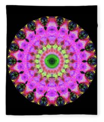 Pink Love Mandala Art By Sharon Cummings Fleece Blanket