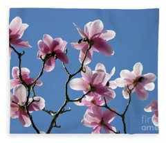 Pink Magnolias  Fleece Blanket