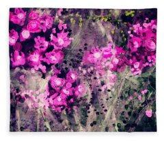 Pink Majestic Garden- Art By Linda Woods Fleece Blanket