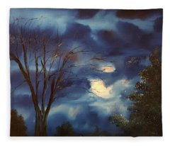 Pink Moon      19 Fleece Blanket