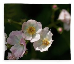 Pink On White Fleece Blanket
