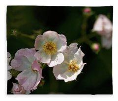 Pink On White Fleece Blanket