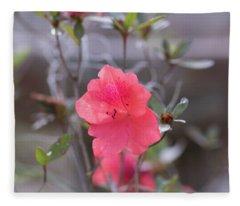 Pink Orange Flower Fleece Blanket