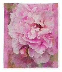 Pink Peony 2 Fleece Blanket