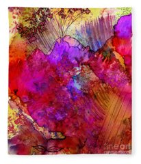 Pink Petals II Fleece Blanket