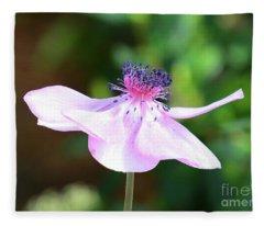 Pink Poppy Profile Fleece Blanket