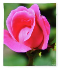 Pink Rose Bud Fleece Blanket