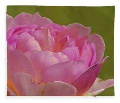Pink Rose #d3 Fleece Blanket