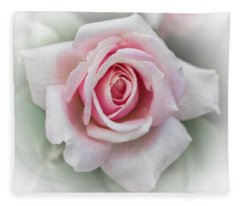 Pink Rose, Sweet And Soft Fleece Blanket