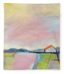 Pink Sky Fleece Blanket