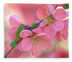 Pink Spring Marvels Fleece Blanket