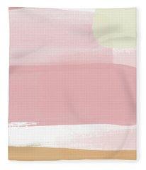 Pink Sunset Stripe 1- Art By Linda Woods Fleece Blanket