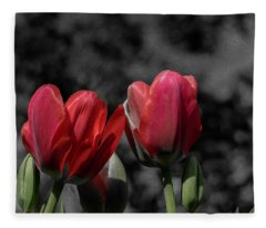 Pink Tulip Pop Fleece Blanket