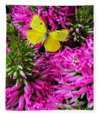 Pink Ventricosa Fleece Blanket