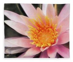 Pink Waterlily Fleece Blanket