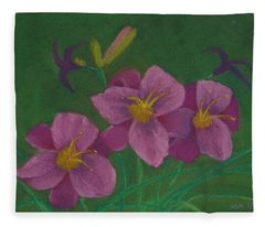 Pink Whispers Fleece Blanket
