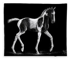 Pinto Foal Fleece Blanket