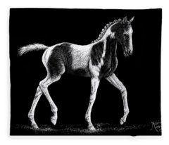 Pinto Foal Fleece Blanket