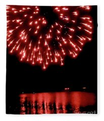 Pioneer Day Fireworks IIi Fleece Blanket