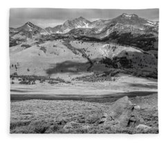 Pioneer Mountains Fleece Blanket