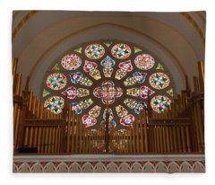 Pipe Organ - Church Fleece Blanket