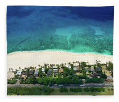 Pipeline Reef Overview Fleece Blanket