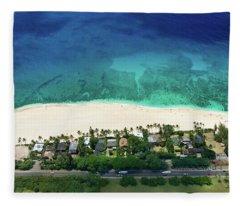Pipeline Reef Overview Fleece Blanket