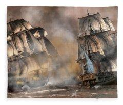 Pirate Battle Fleece Blanket